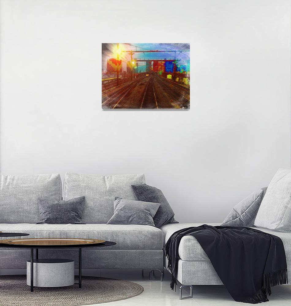 """The Past Train 4""  (2018) by RubinoFineArt"