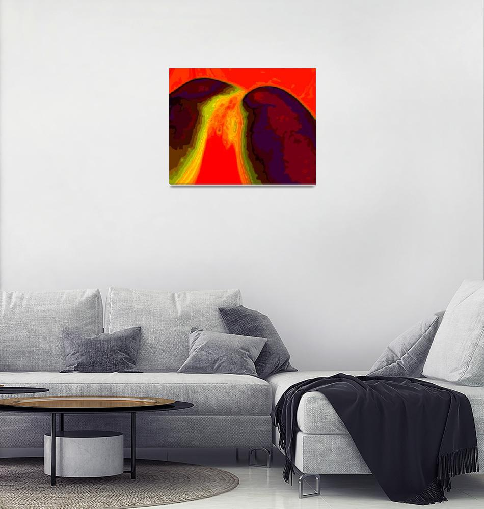 """""""Lava Flow""""  (2012) by AMJohnson"""