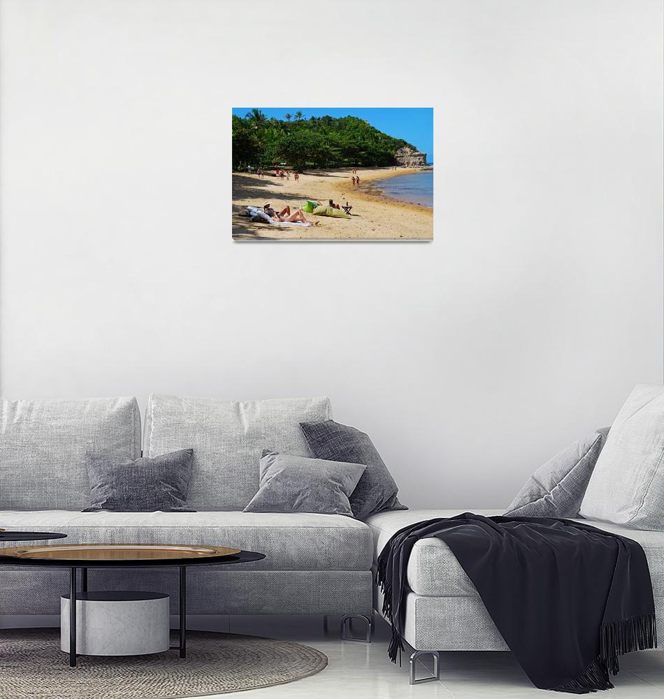 """Beach in Trancoso - Bahia - Brazil""  (2011) by CarlosAlkmin"