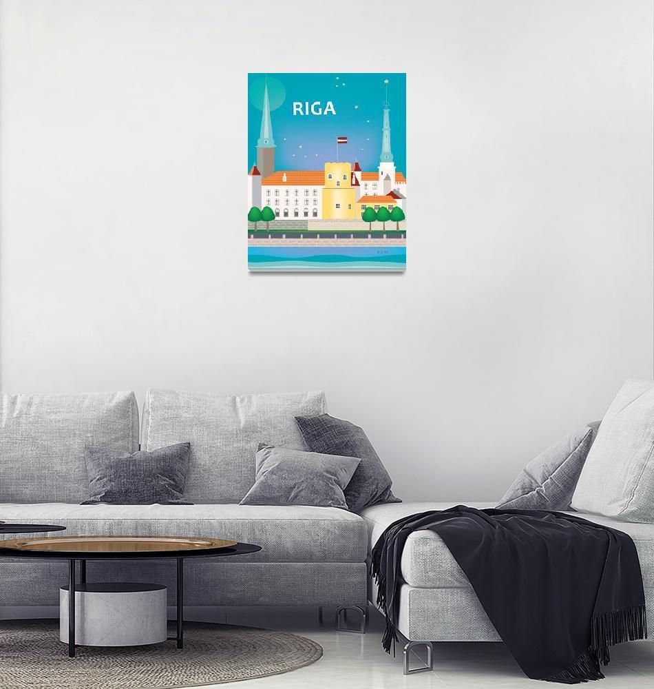 """""""Riga, Latvia""""  (2017) by loosepetals"""