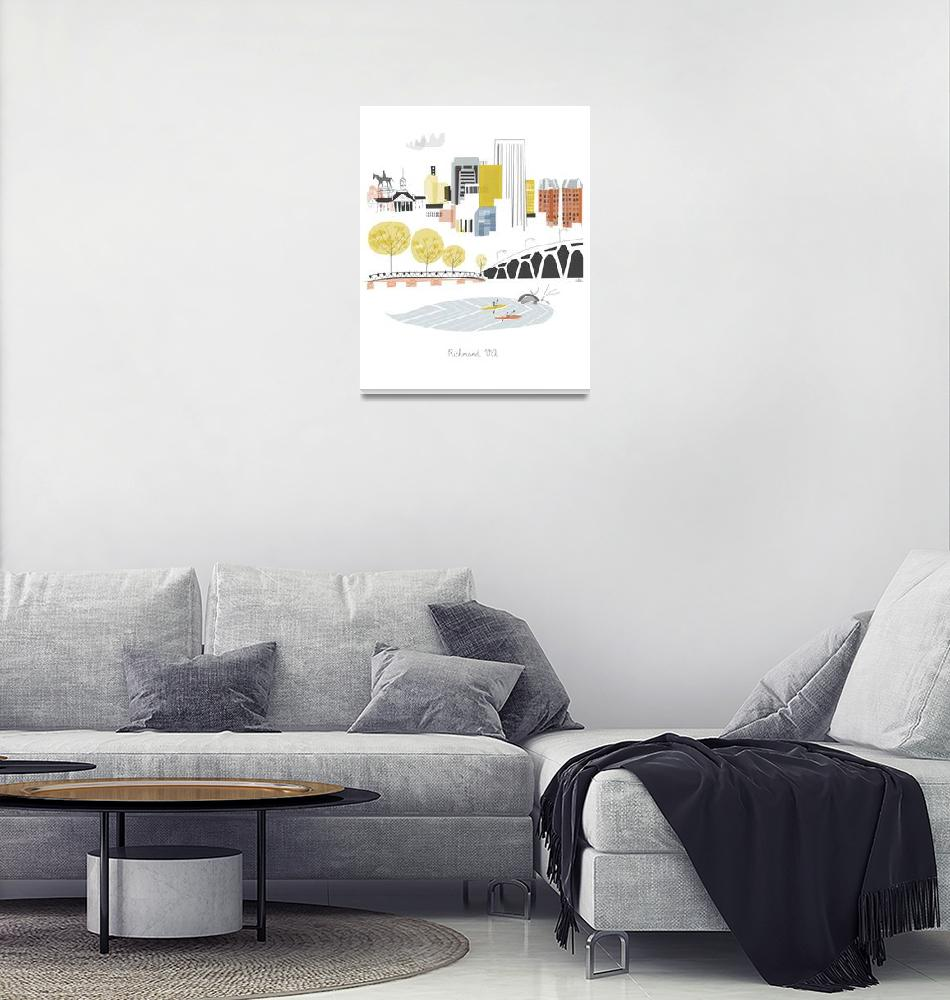 """Richmond Modern Cityscape Illustration""  by AlbieDesigns"