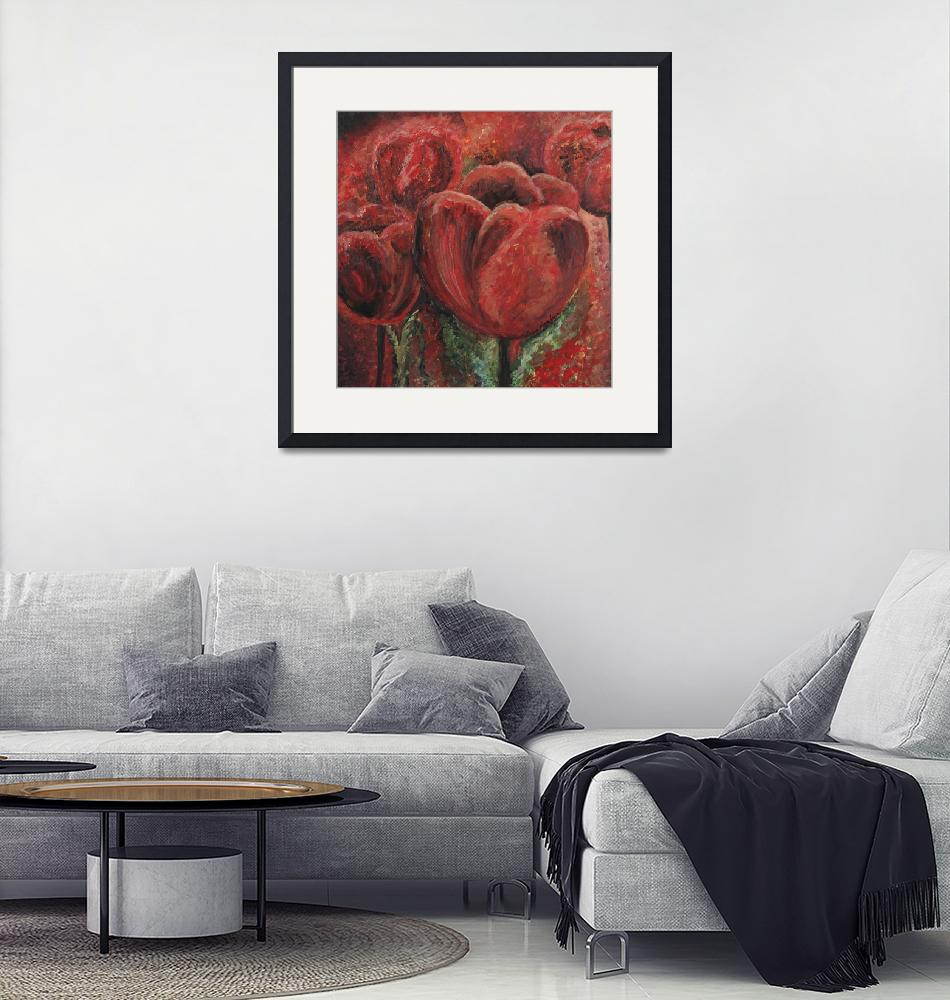 """Tulips in Red""  (2007) by nadinerippelmeyer"