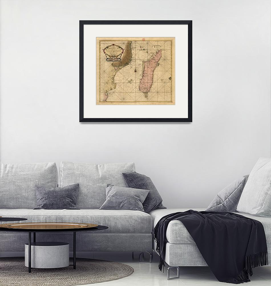 """Vintage Map of Madagascar (1679)""  by Alleycatshirts"