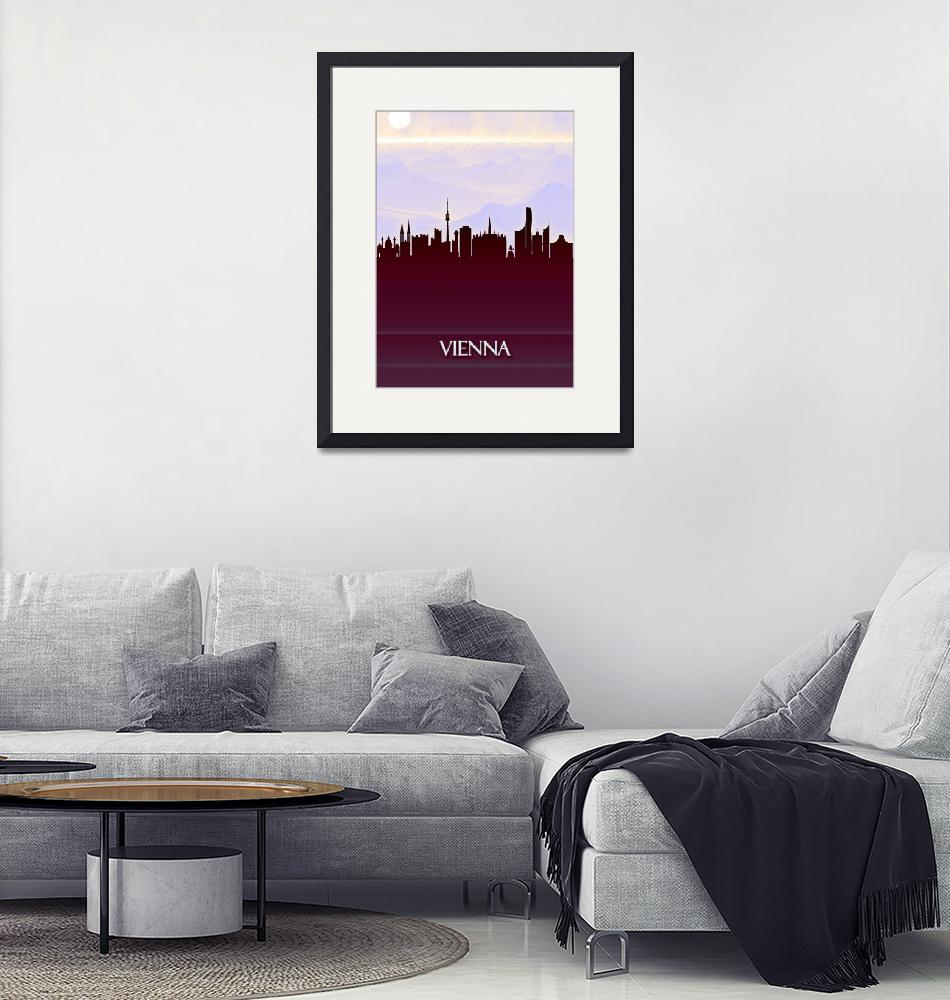 """""""Vienna City Skyline""""  by Towseef"""