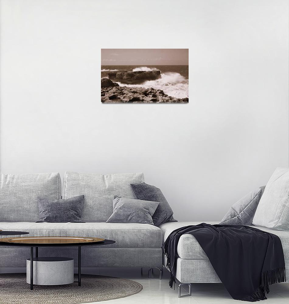"""Sea Coast Malta""  (2003) by LiebeskindPhotos"