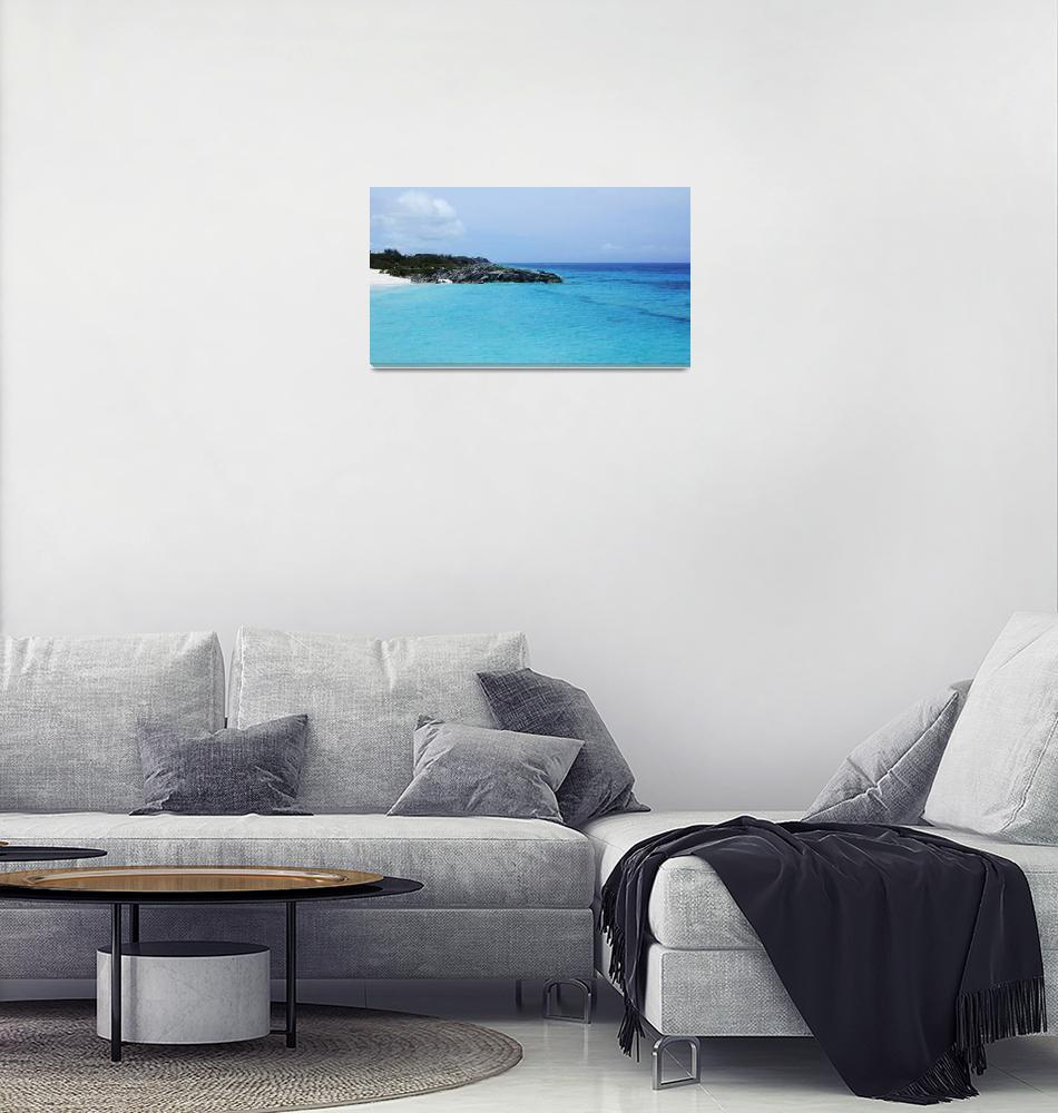 """Tropical Bermuda Beach""  (2018) by LukeMoore"