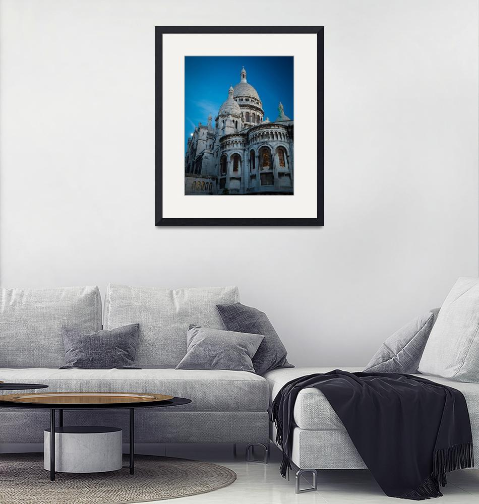 """""""Sacre-Coeur at Night""""  (2012) by Inge-Johnsson"""