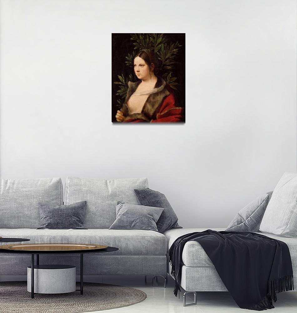 """""""Giorgione~Young Woman (""""Laura"""")""""  by Old_master"""