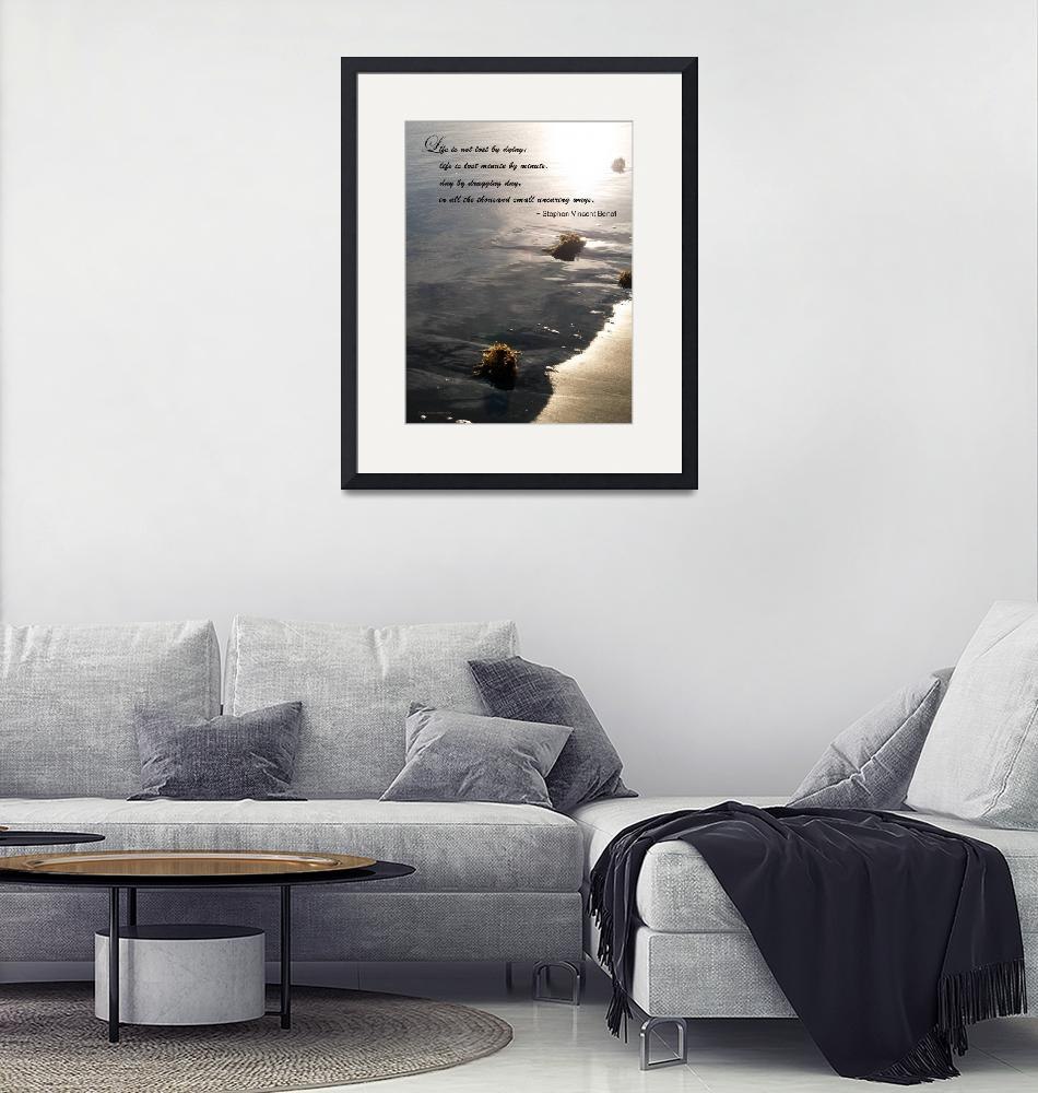 """""""Inspirational about Life with Beach Photography""""  (2011) by GinetteCallaway"""