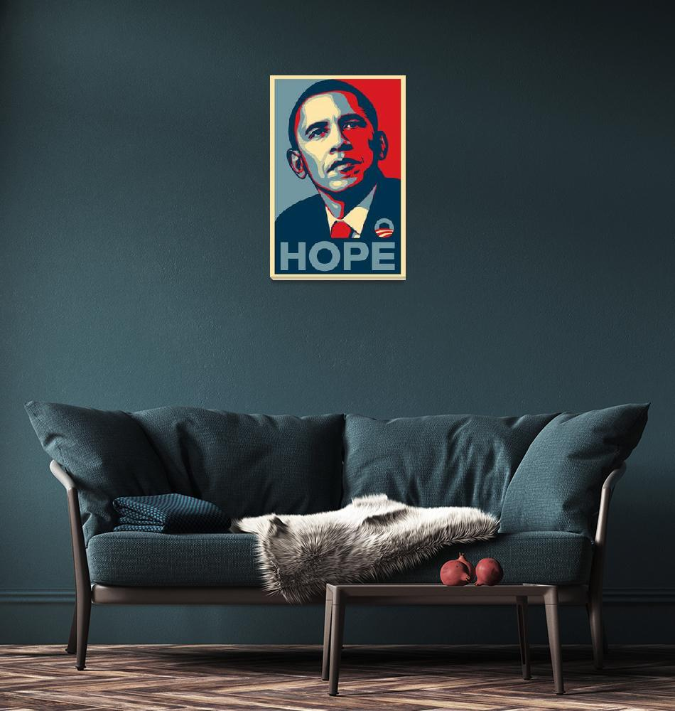 """Barack Obama Hope""  (2008) by paint"