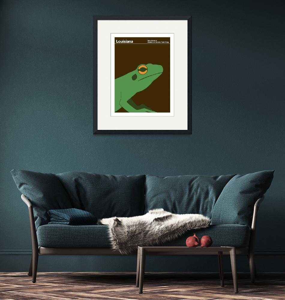 """Louisiana State Amphibian: Green Tree Frog"" by artlicensing"