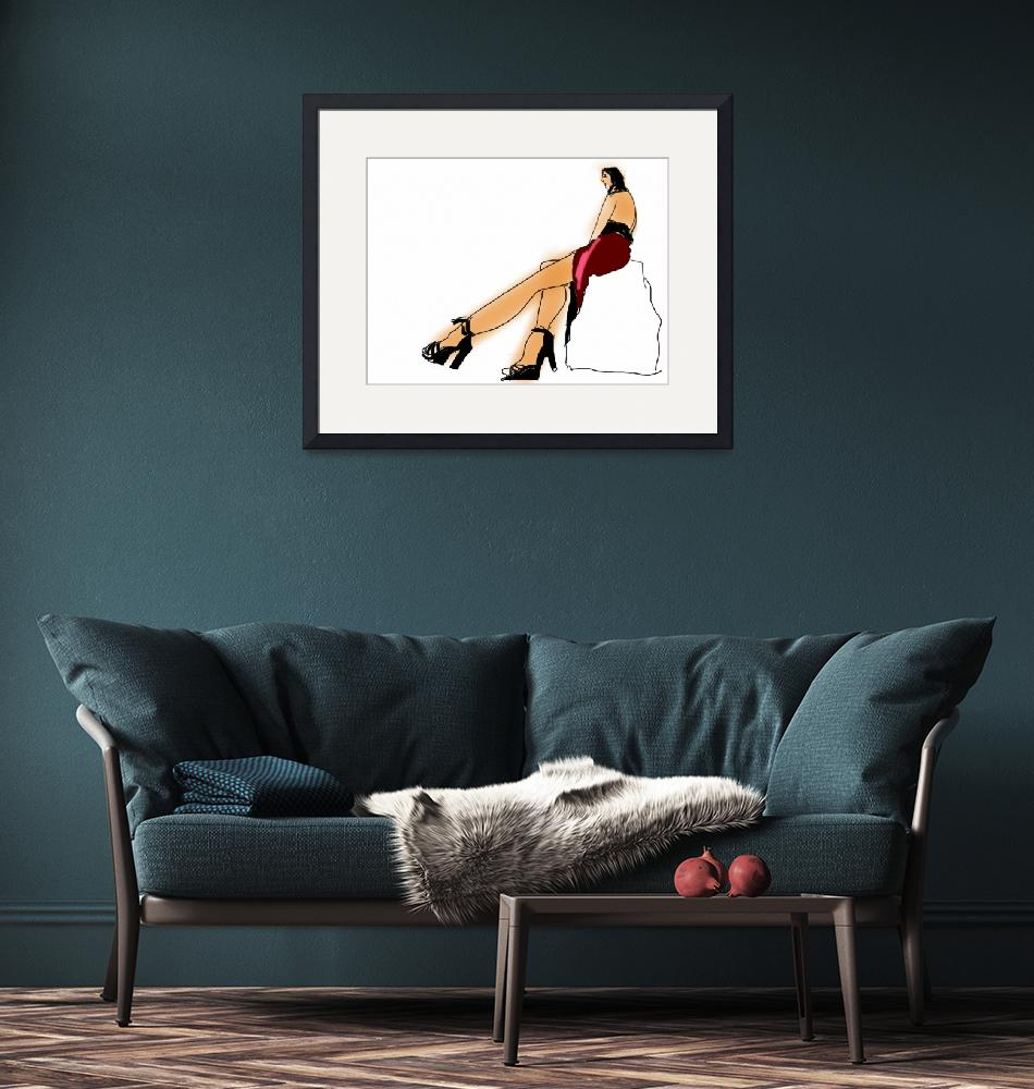 """""""Ishtar in Big Shoes""""  (2011) by geneclements"""