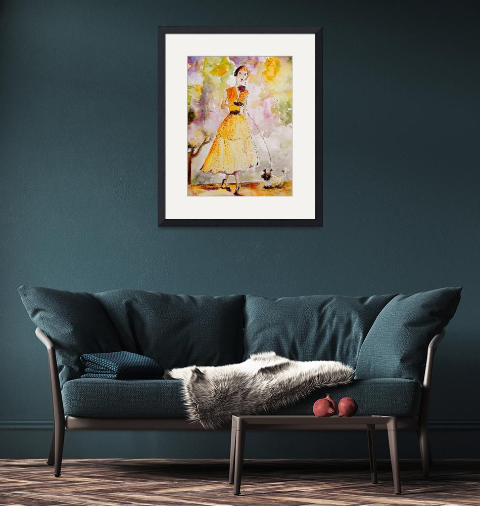 """""""High Society Vintage Fashion Lady avec Chien""""  (2007) by GinetteCallaway"""