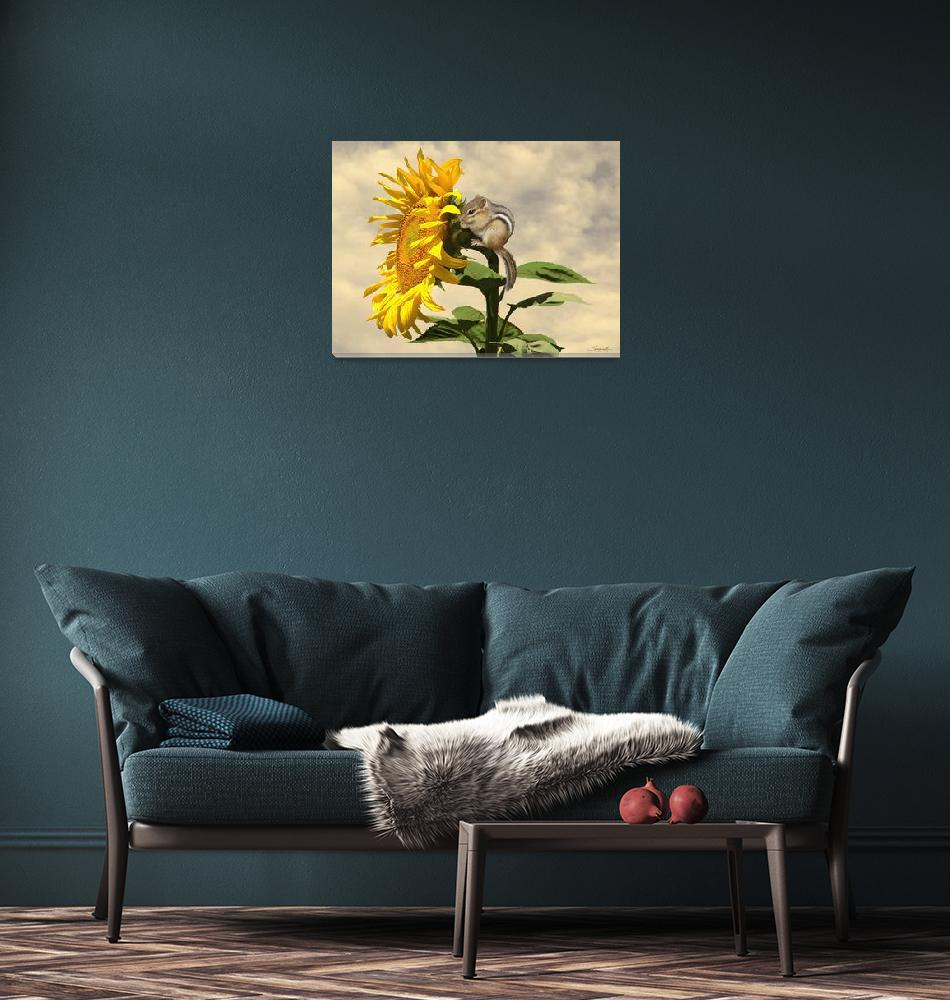 """""""Waiting for the Sunflower""""  (2017) by spadecaller"""