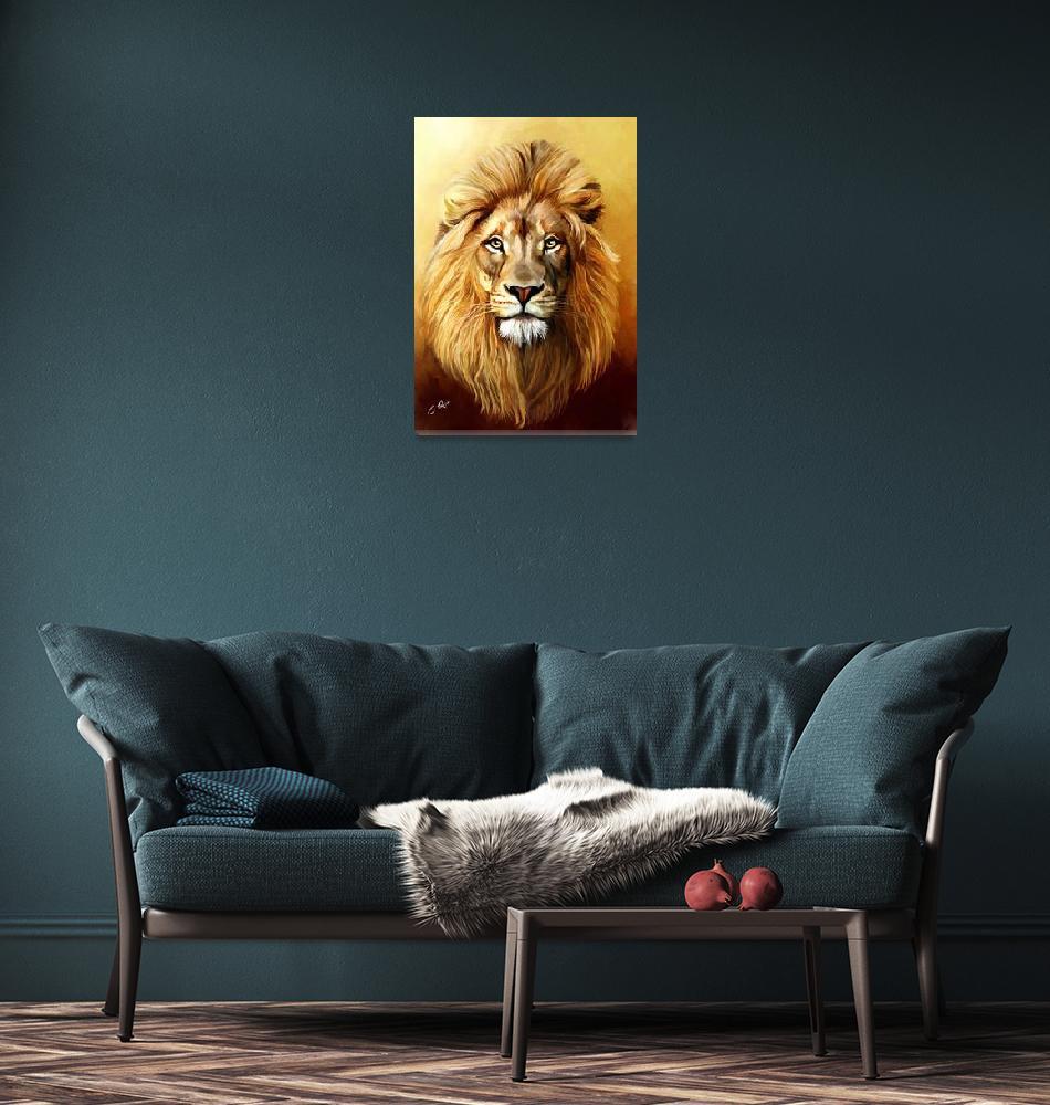 """""""Lion""""  (2011) by ellenspaintings"""