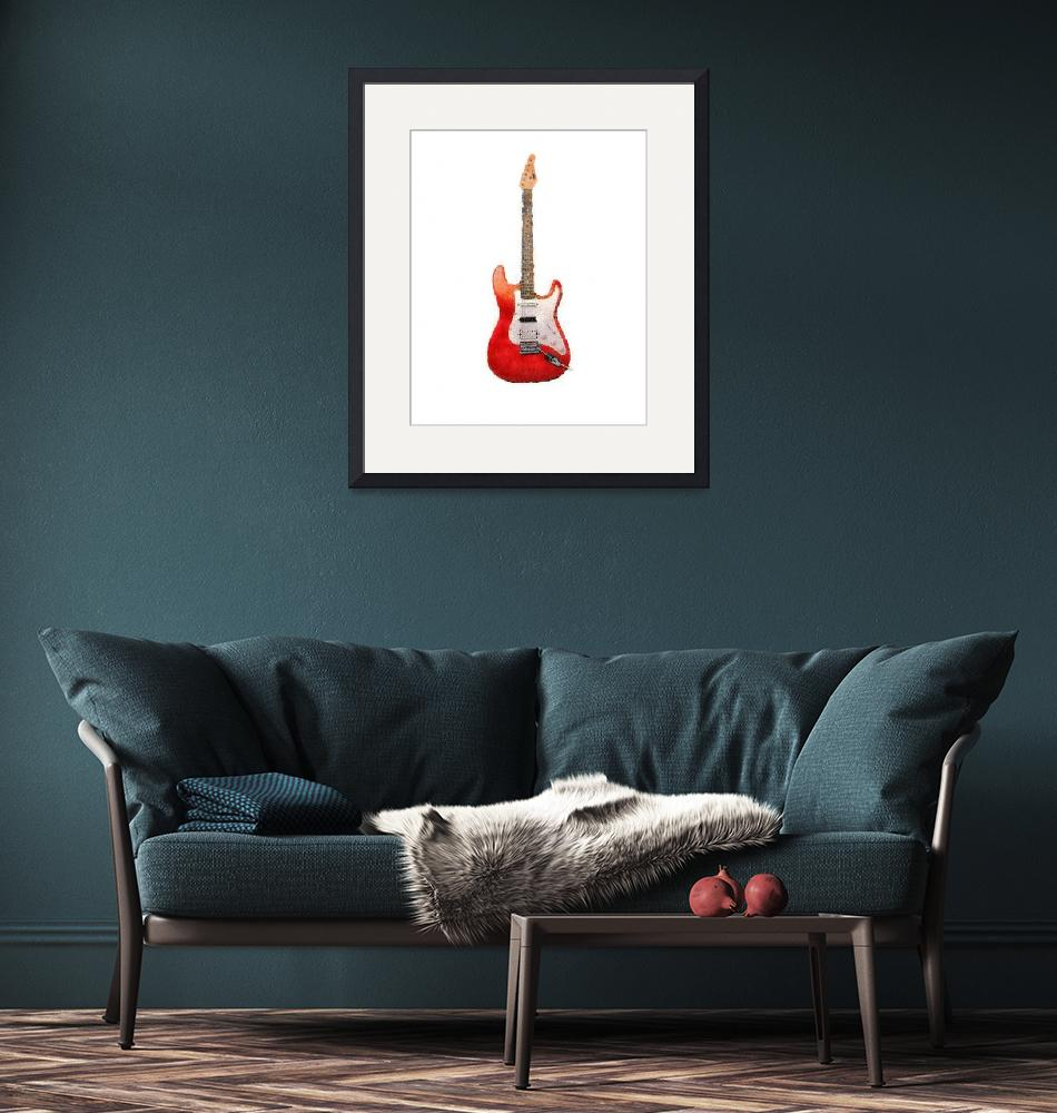 """Red Guitar Pastels""  (2010) by melonphotography"