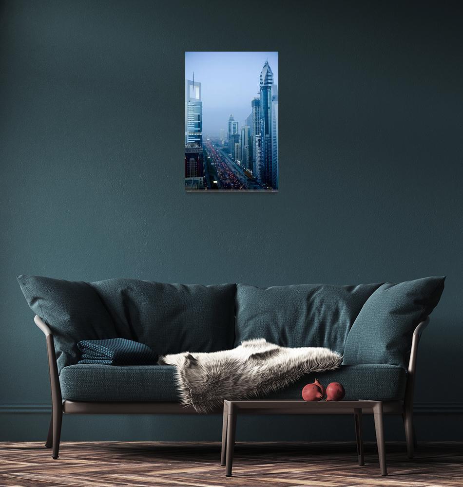 """Dubai – Sheikh Zayed Road""  (2008) by vincos"