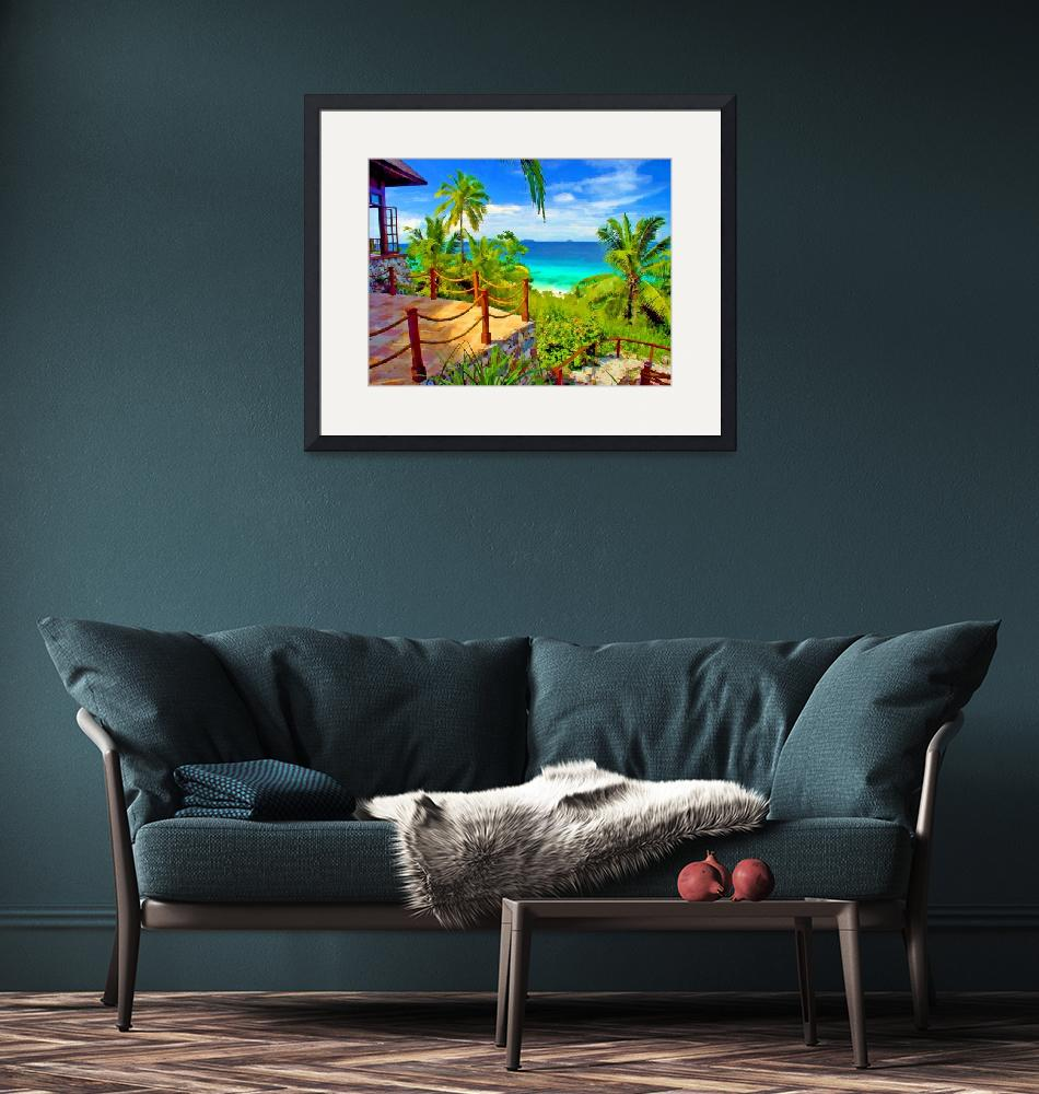 """""""View from Fregate Island Seychelles""""  (2014) by who"""