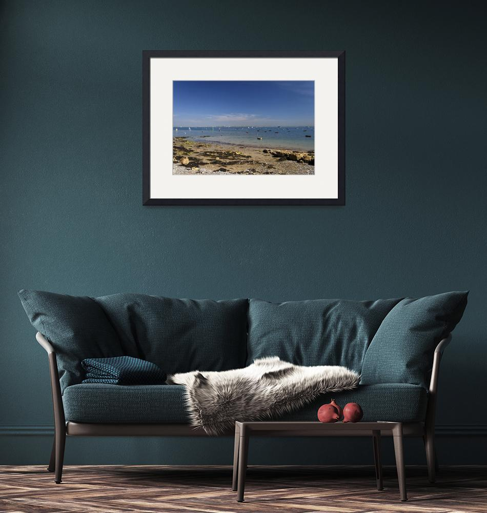 """""""Seaview Beach and The Solent - 01 (32290-RDA)""""  (2012) by rodjohnson"""