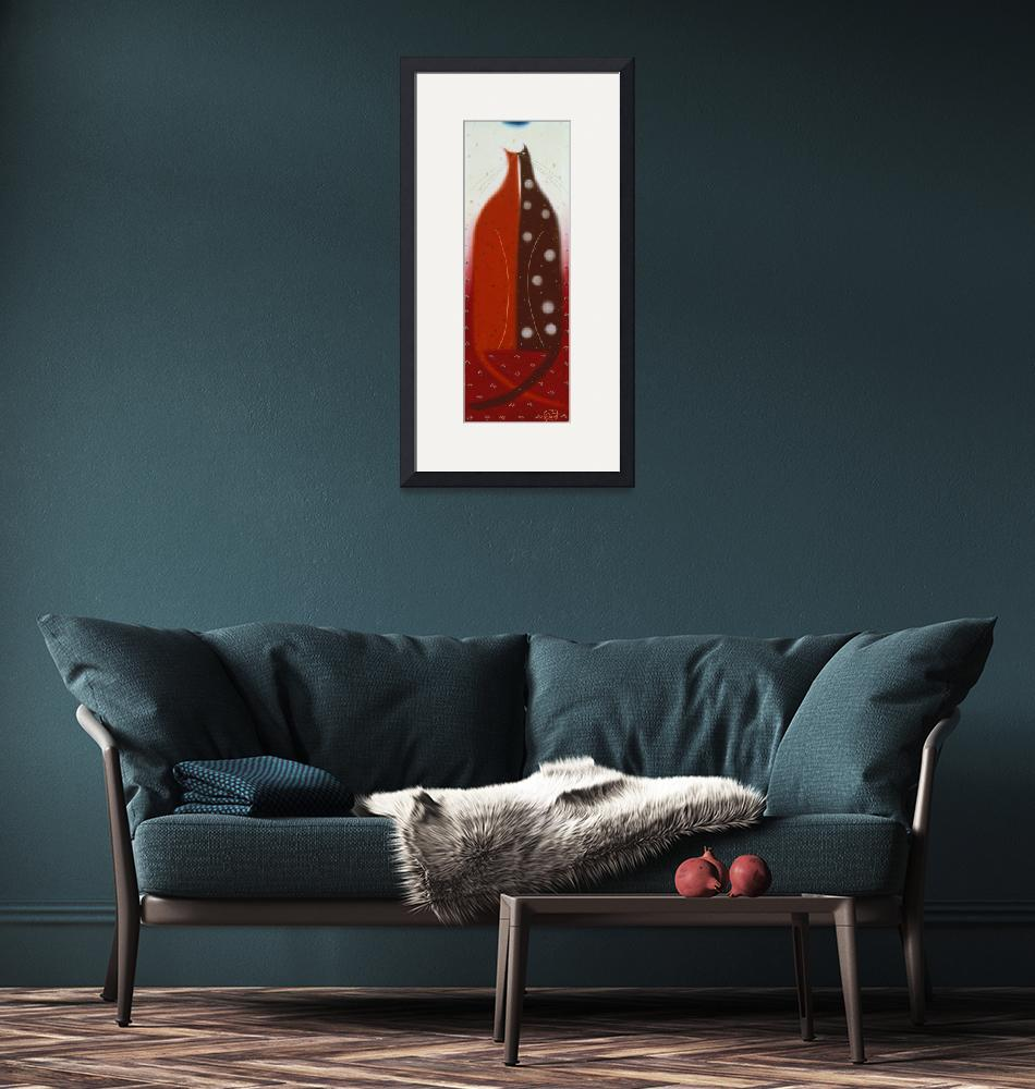 """""""Two Cats Nuzzle""""  by artlicensing"""