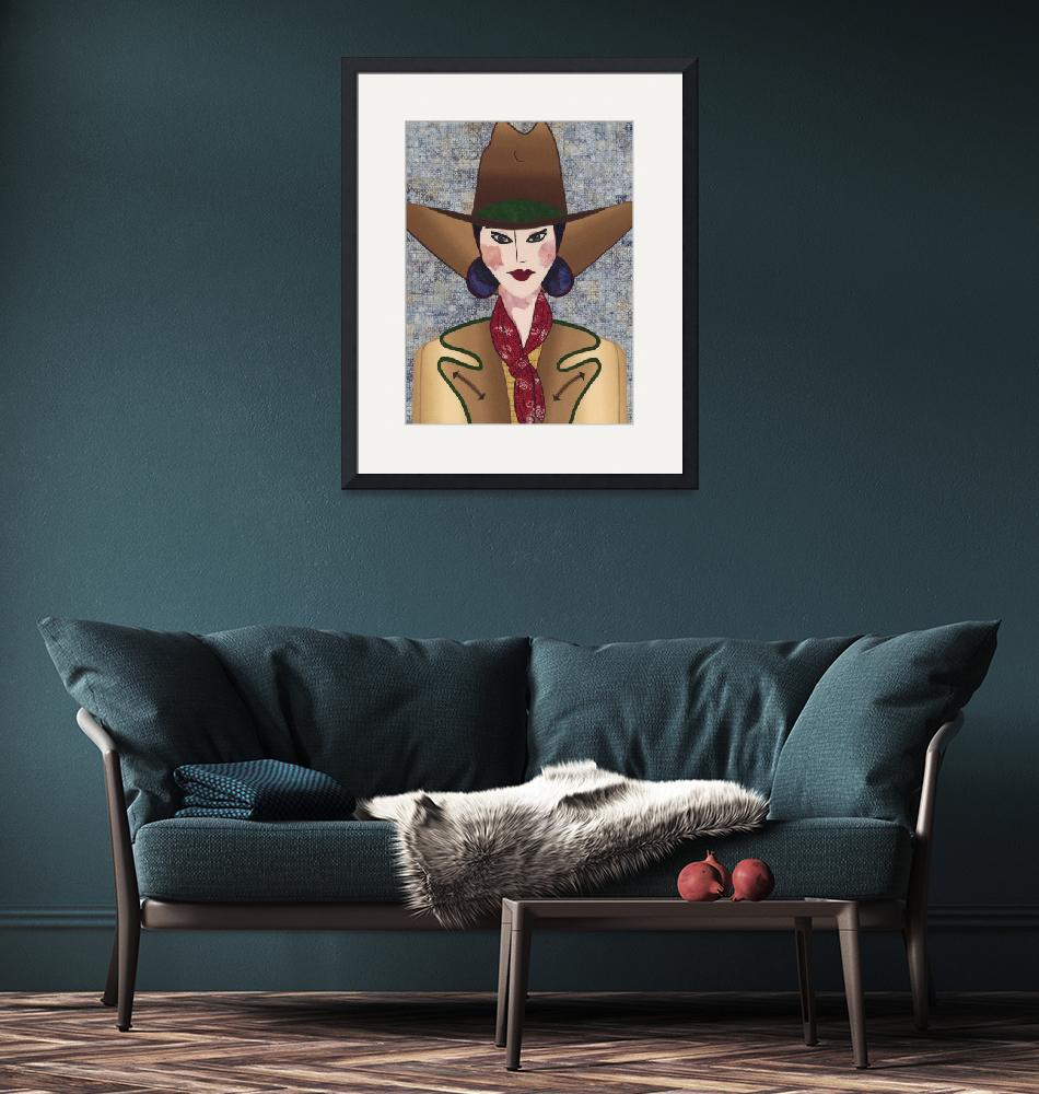 """""""Japanese Girl Series - Cowboy Chieko"""" (2006) by RemnantWorks"""