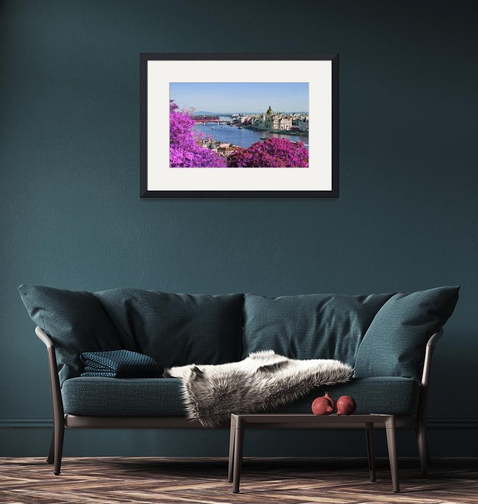 """""""Hungary Budapest Danube - Infrared - Purple""""  by motionage"""