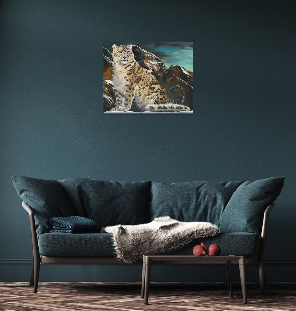 """""""May-mountain spirit snow leopard 16X20""""  by yuezeng"""