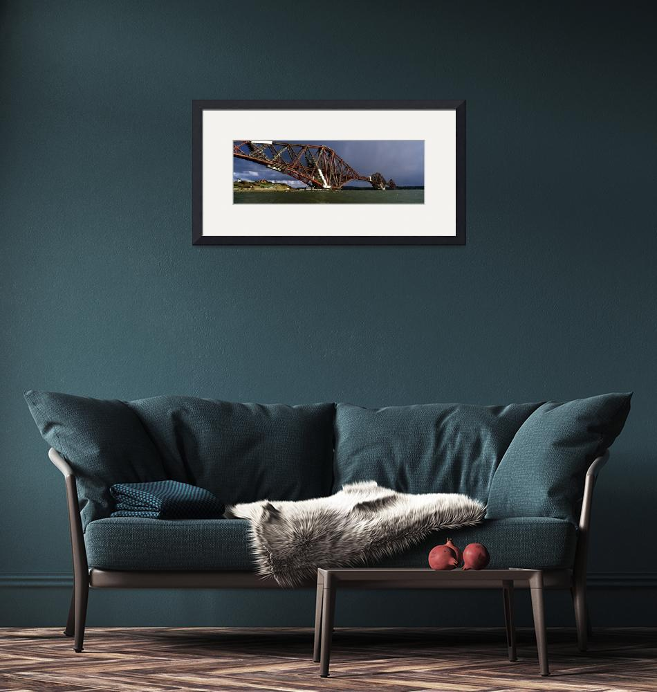 """""""Railway bridge across a river Firth Of Forth Rail""""  by Panoramic_Images"""