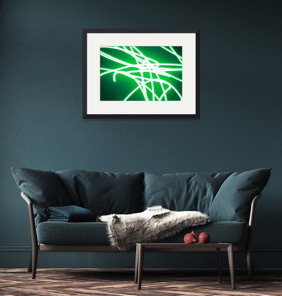 """""""Intense green strings of light""""  (2012) by MikeMBurkeDesigns"""