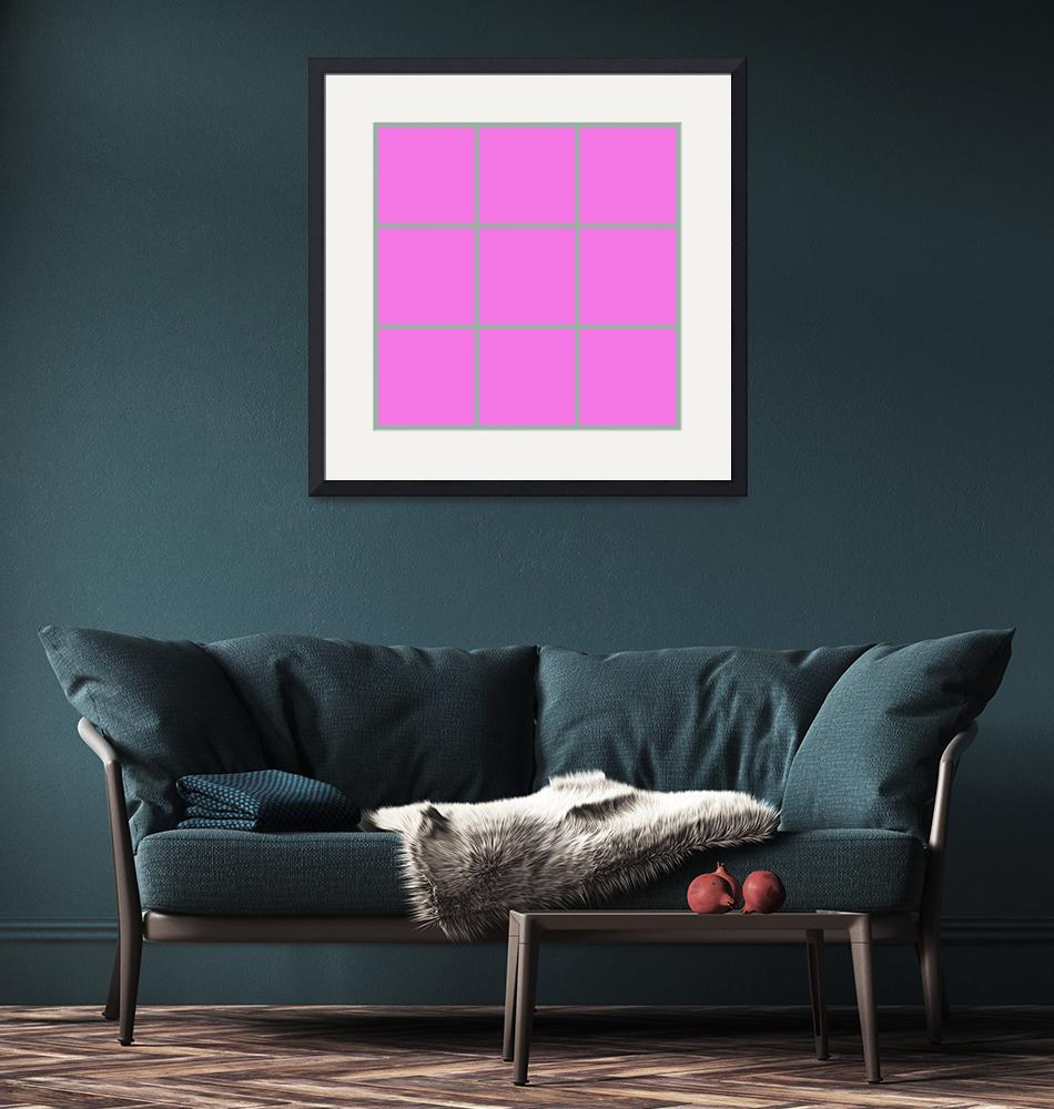"""Pink Window 179 Canvas Contemporary Modern""  (2010) by Ricardos"