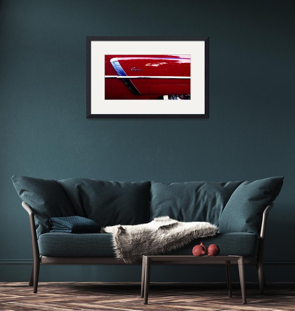 """""""1952 Lincoln Capri Quarter Panel Poster""""  (2018) by Automotography"""