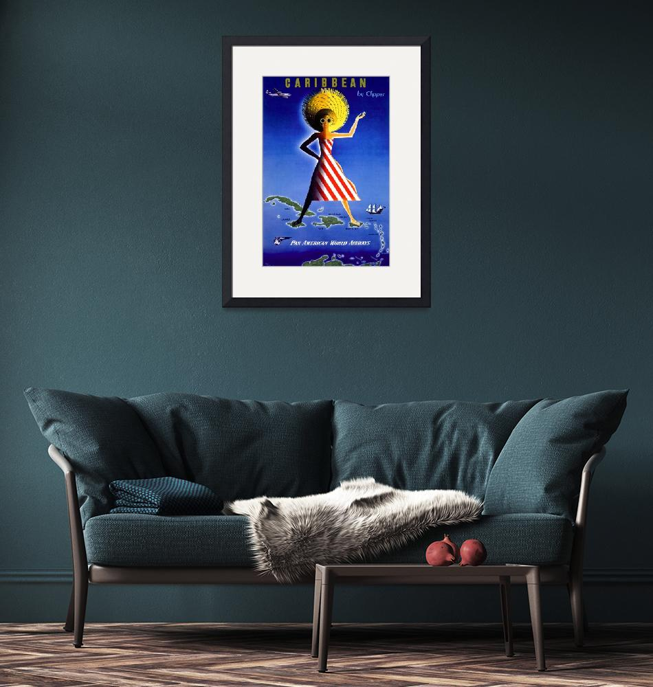 """""""Caribbean Vintage Travel Poster""""  by FineArtClassics"""