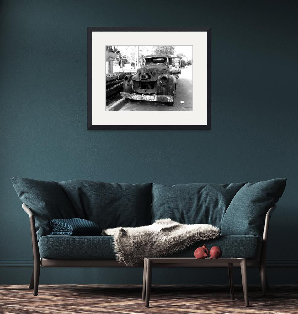 """""""Abandoned Destroyed Truck""""  (2009) by Alvimann"""
