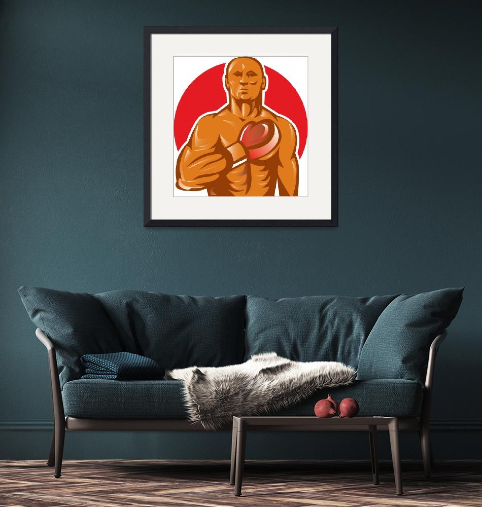 """""""boxer with boxing gloves hand on chest""""  (2013) by patrimonio"""