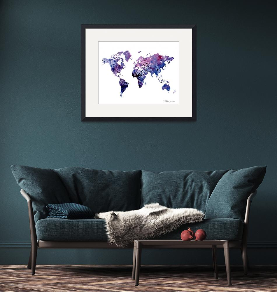 """World Map""  (2015) by k9artgallery"