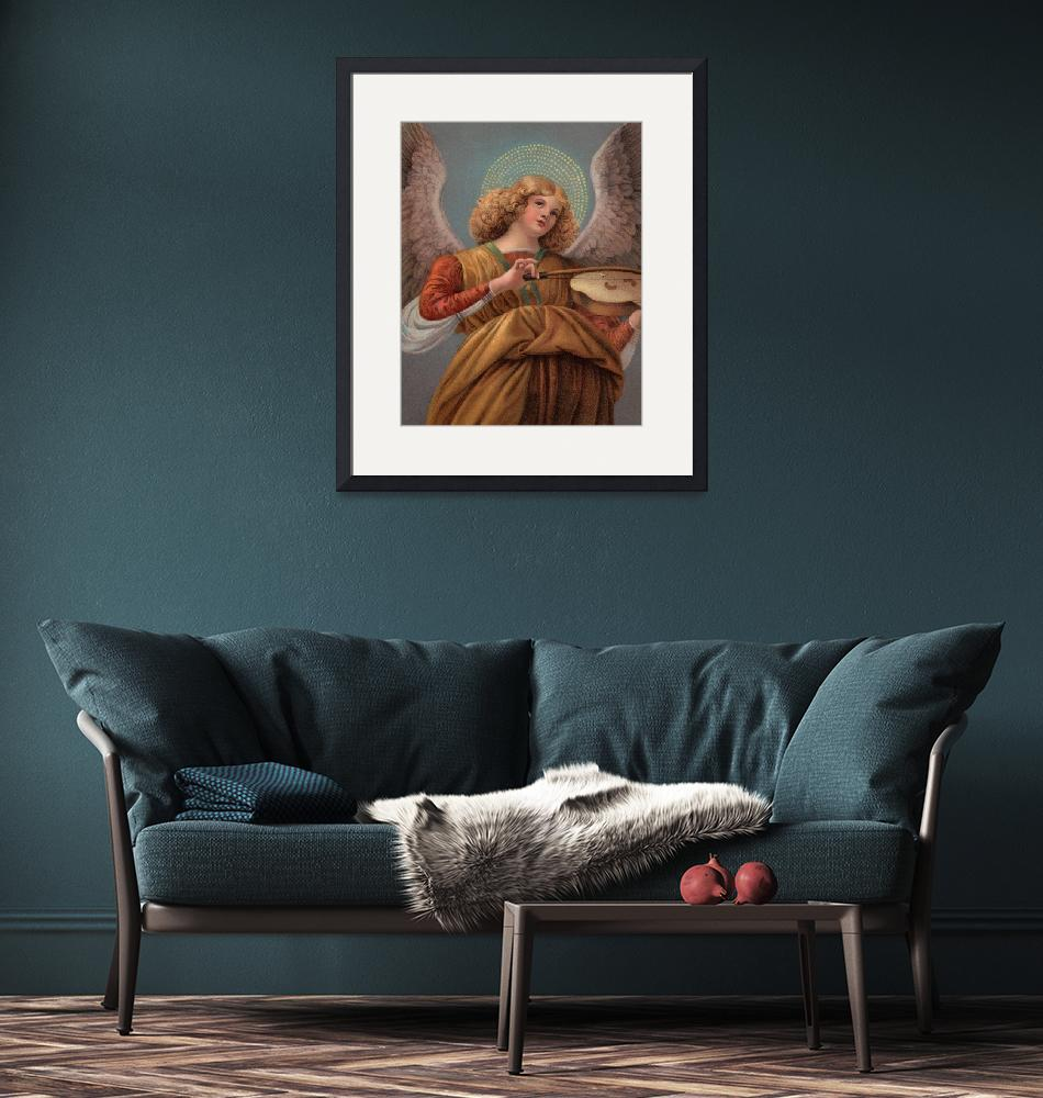 """""""Angel with a Violin""""  (1995) by decoratifcollections"""