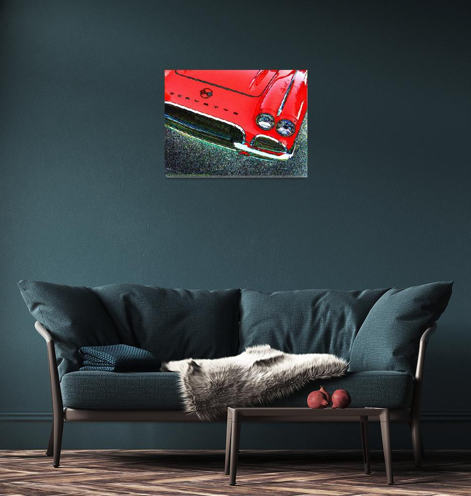 """1962 Chevrolet Corvette Front - Red""  (2007) by Automotography"
