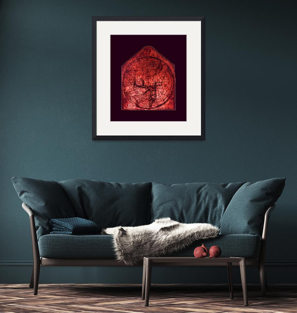 """""""Hereford Mappa Mundi Red Tint Largest Violet Borde""""  (2014) by TheNorthernTerritory"""