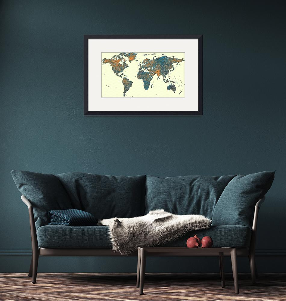 """""""world map 2"""" by motionage"""