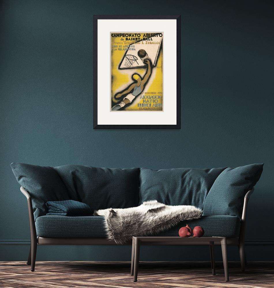 """""""Buenos Aires Vintage Basketball Poster""""  by FineArtClassics"""