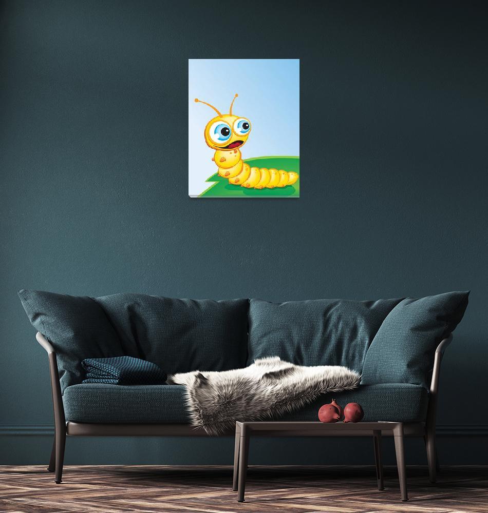 """""""Critter-Caterpillar-yellow""""  (2008) by edgeplus"""