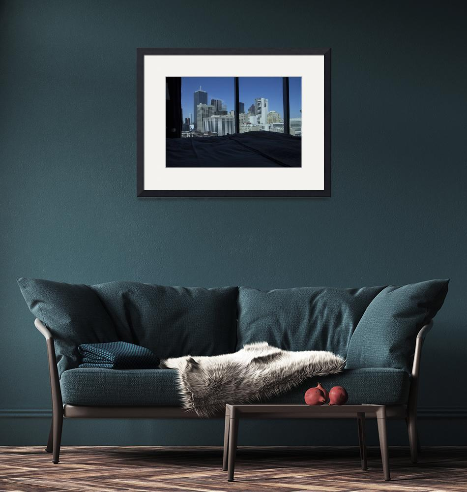 """""""Room View of Dallas Skyline, Texas""""  (2014) by happysights"""