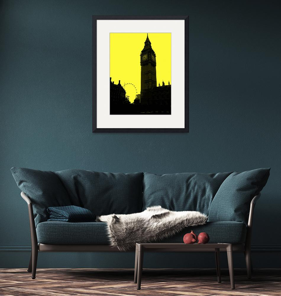 """London in Yellow""  (2013) by NKJEK"