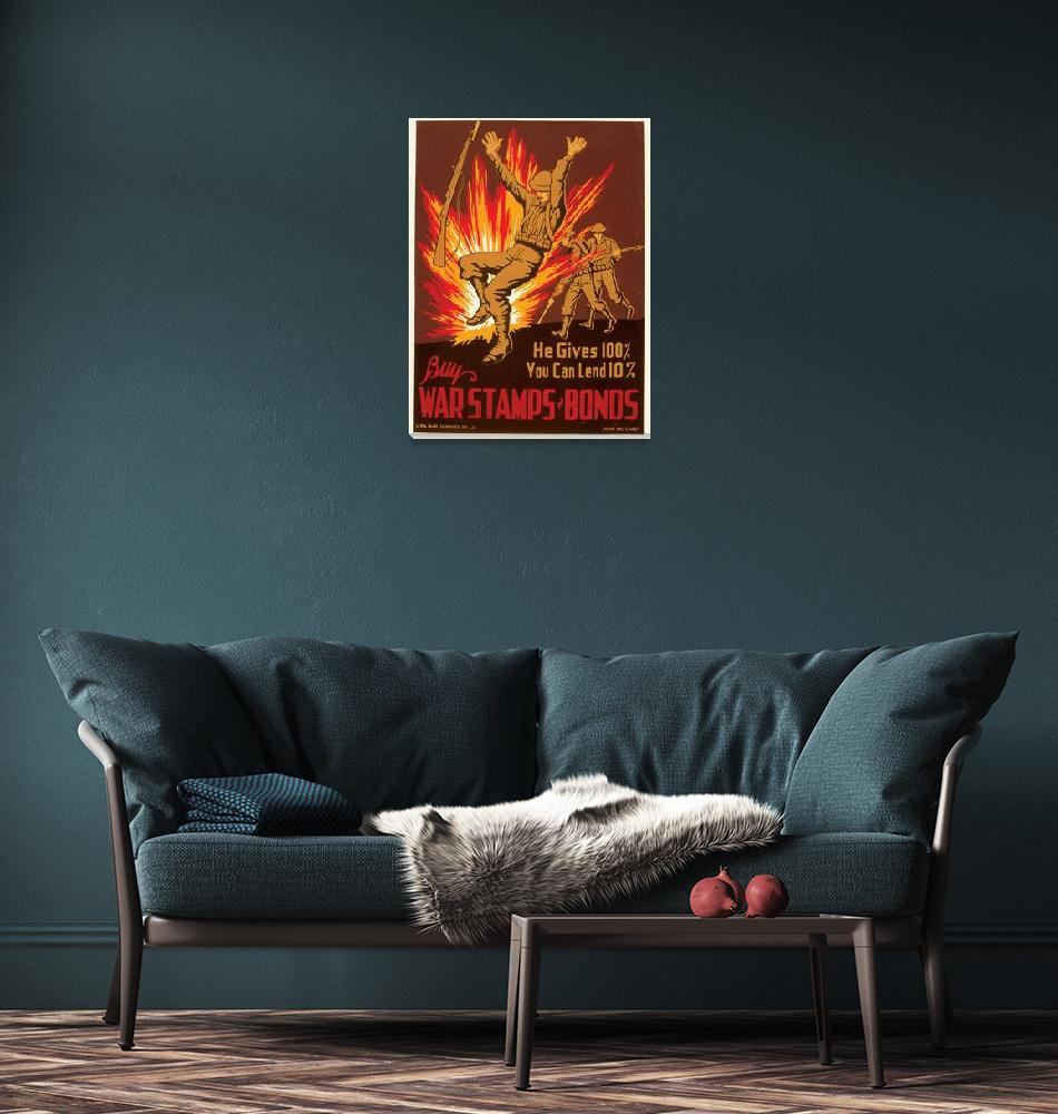 """Buy War Stamps and Bonds  Poster""  by ArtLoversOnline"