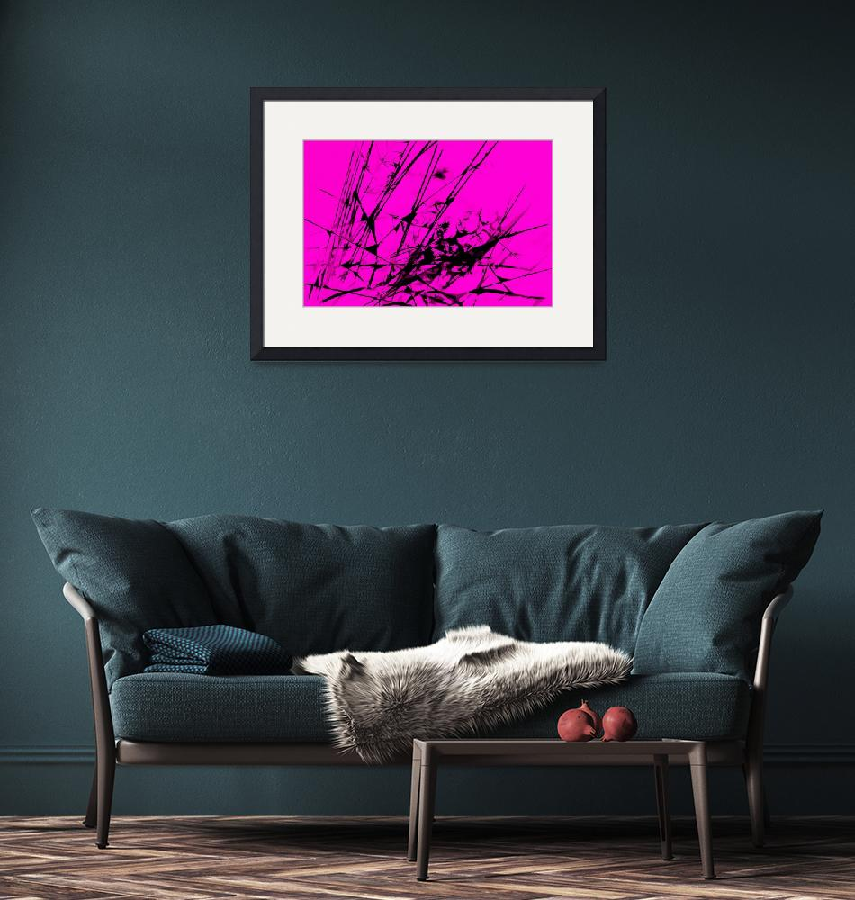 """""""Strike Out Pink and Black Abstract""""  (2012) by NatalieKinnear"""