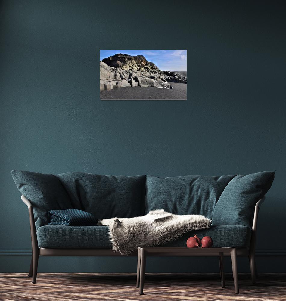 """Dyrhólaey Beach, Iceland""  (2020) by ChrisSeufert"