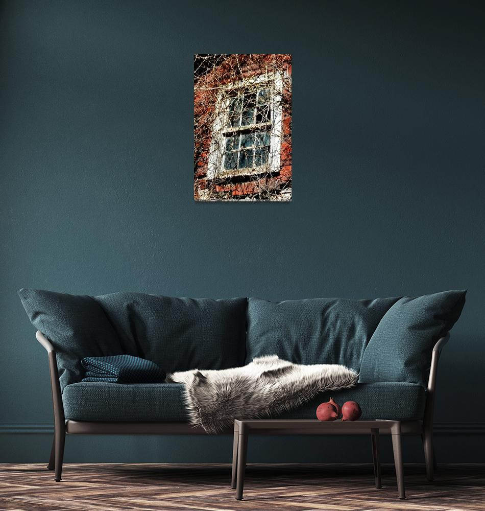 """Blue Ridge Farm House Window""  (2012) by Johnson-Miles"