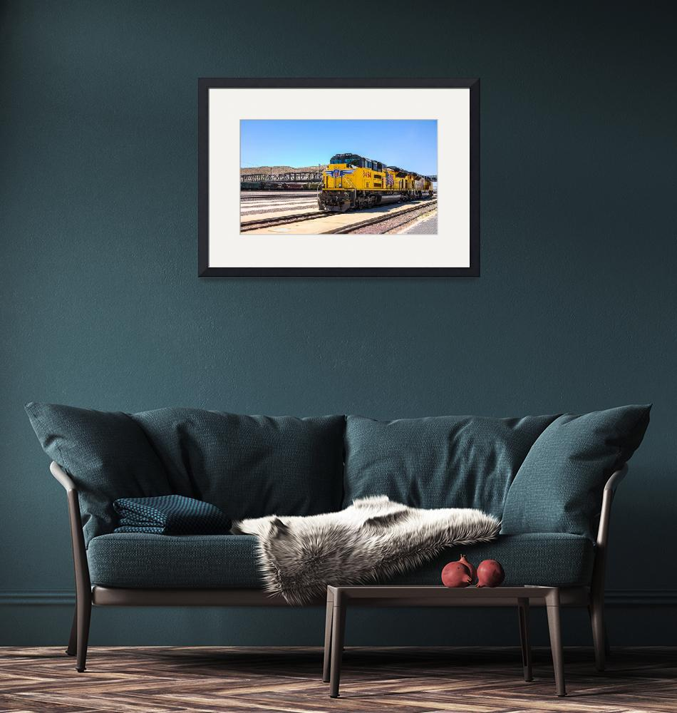 """Union Pacific near Route 66""  (2008) by dbwalton"
