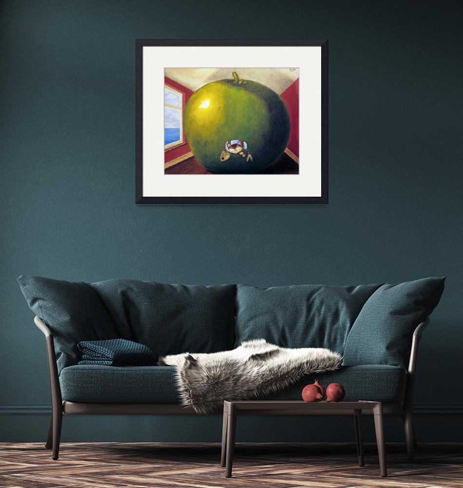"""""""Cat art by catmaSutra - Apple on the Inside""""  (2005) by catmasutra"""