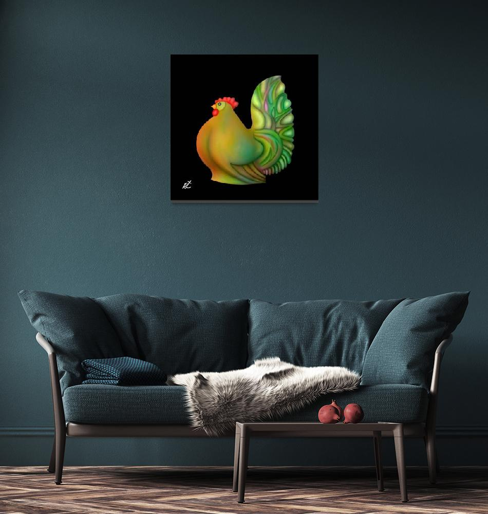"""""""Fat chicken by rafi talby""""  (2012) by RT3D"""